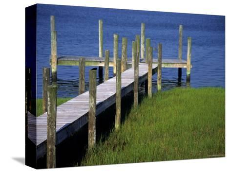 Dock in the Bay-Stacy Gold-Stretched Canvas Print