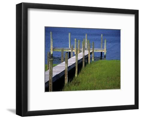 Dock in the Bay-Stacy Gold-Framed Art Print