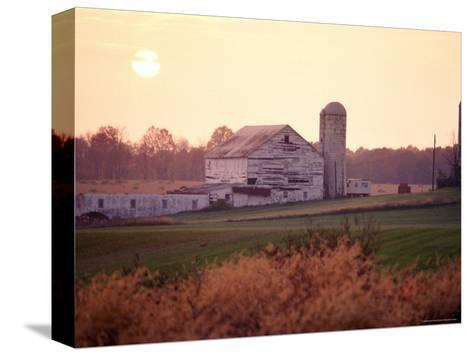 Farm in Rockville, Maryland at Sunset-Richard Nowitz-Stretched Canvas Print