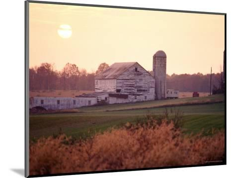 Farm in Rockville, Maryland at Sunset-Richard Nowitz-Mounted Photographic Print