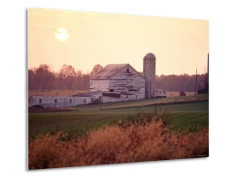 Farm in Rockville, Maryland at Sunset-Richard Nowitz-Metal Print