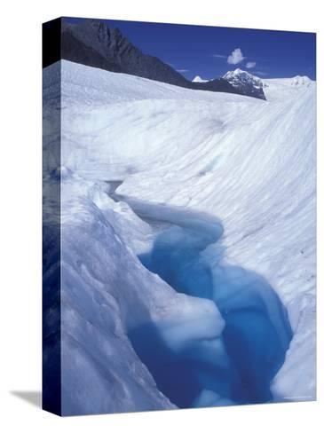 Glacial Blue Pool on Root Glacier, Alaska-Rich Reid-Stretched Canvas Print