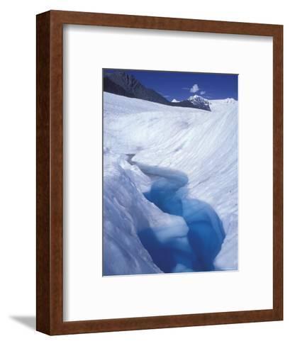 Glacial Blue Pool on Root Glacier, Alaska-Rich Reid-Framed Art Print