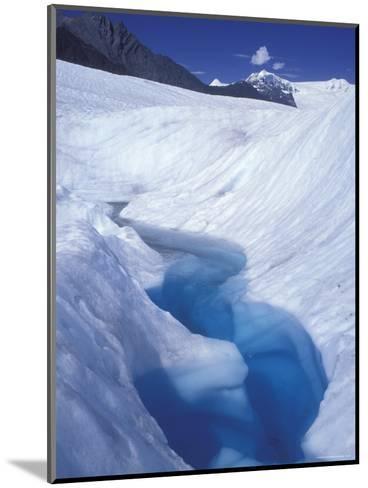 Glacial Blue Pool on Root Glacier, Alaska-Rich Reid-Mounted Photographic Print
