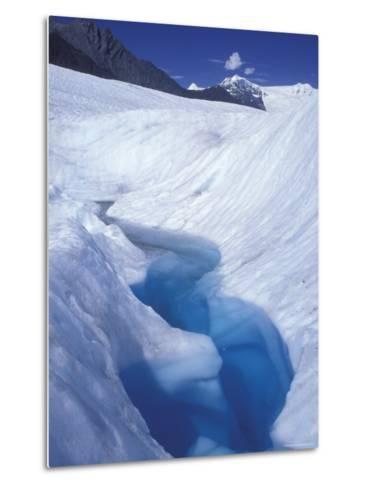 Glacial Blue Pool on Root Glacier, Alaska-Rich Reid-Metal Print
