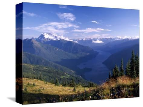 Jack Peak and Ross Lake from near Desolation Peak Fire Lookout Cabin-David Pluth-Stretched Canvas Print