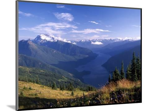 Jack Peak and Ross Lake from near Desolation Peak Fire Lookout Cabin-David Pluth-Mounted Photographic Print