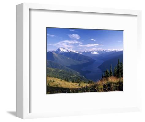 Jack Peak and Ross Lake from near Desolation Peak Fire Lookout Cabin-David Pluth-Framed Art Print