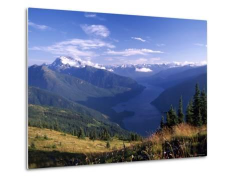 Jack Peak and Ross Lake from near Desolation Peak Fire Lookout Cabin-David Pluth-Metal Print