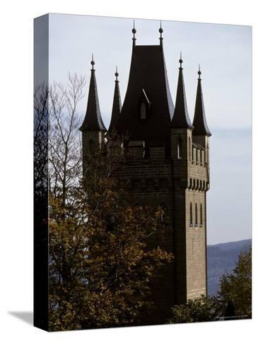 Fairytale Turret at Burg Hohenzollern Castle 1850-1867, in Bavaria-Jason Edwards-Stretched Canvas Print