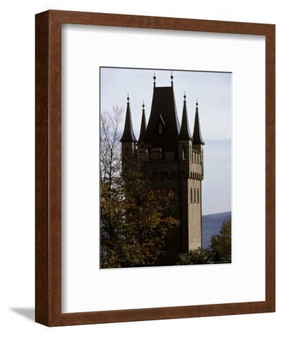 Fairytale Turret at Burg Hohenzollern Castle 1850-1867, in Bavaria-Jason Edwards-Framed Art Print