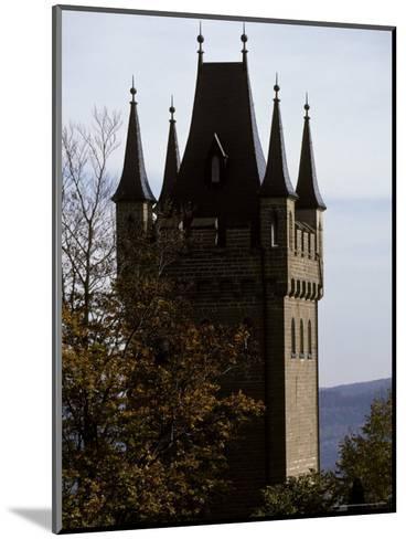 Fairytale Turret at Burg Hohenzollern Castle 1850-1867, in Bavaria-Jason Edwards-Mounted Photographic Print