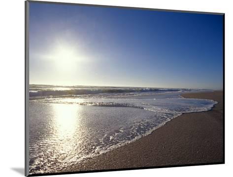 Gentle Waves Lap Onto a Pristine Sandy Beach with the Sun Reflecting, Australia-Jason Edwards-Mounted Photographic Print