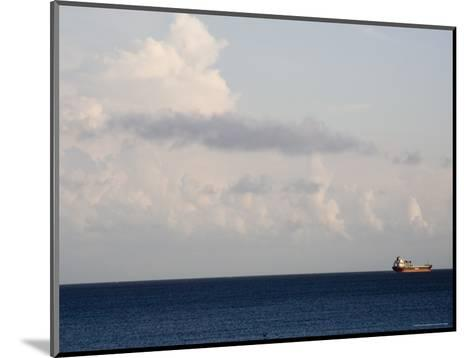 Container Ship Leaves Cape Fear River Mouth for Open Atlantic-David Evans-Mounted Photographic Print