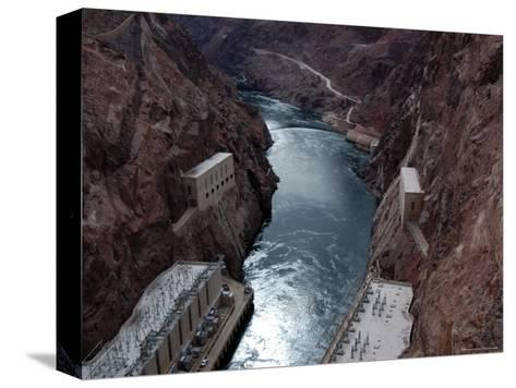 Hoover Dam's Power Substations Along the Colorado River-Stacy Gold-Stretched Canvas Print