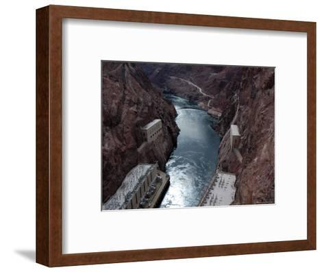 Hoover Dam's Power Substations Along the Colorado River-Stacy Gold-Framed Art Print