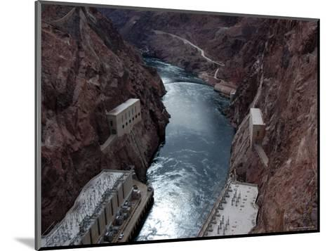 Hoover Dam's Power Substations Along the Colorado River-Stacy Gold-Mounted Photographic Print