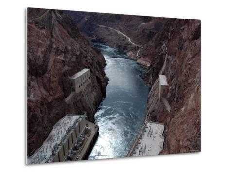 Hoover Dam's Power Substations Along the Colorado River-Stacy Gold-Metal Print