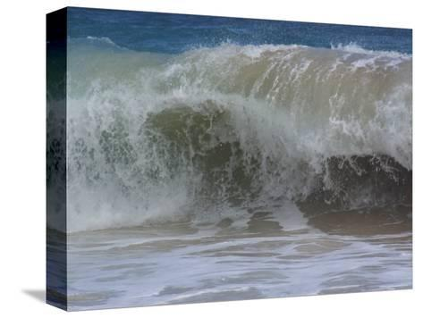 Huge Waves Break near the Shore, Hawaii-Stacy Gold-Stretched Canvas Print