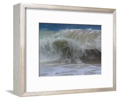 Huge Waves Break near the Shore, Hawaii-Stacy Gold-Framed Art Print