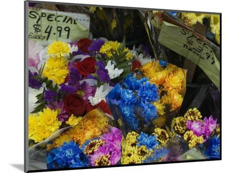 Flowers for Sale at an Outdoor Market Stand, New York-Todd Gipstein-Mounted Photographic Print