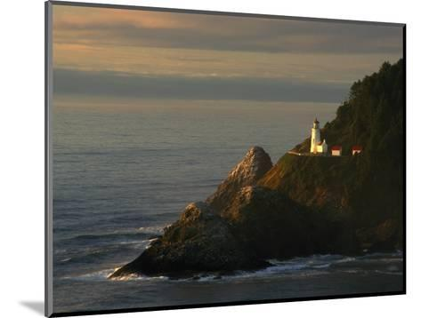Distant View of the Heceta Head Lighthouse on the Oregon Coast-Phil Schermeister-Mounted Photographic Print