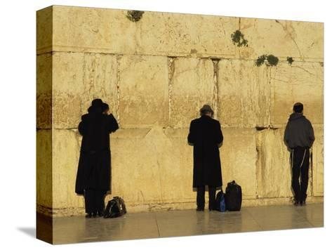 Jews Pray at the Western Wall-Annie Griffiths Belt-Stretched Canvas Print