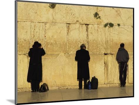 Jews Pray at the Western Wall-Annie Griffiths Belt-Mounted Photographic Print