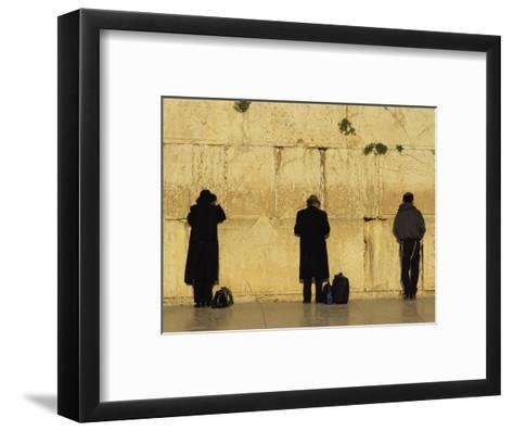 Jews Pray at the Western Wall-Annie Griffiths Belt-Framed Art Print