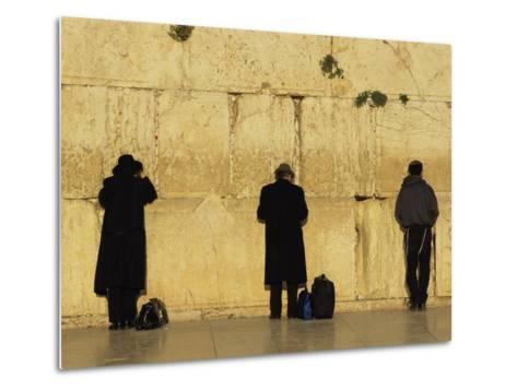 Jews Pray at the Western Wall-Annie Griffiths Belt-Metal Print