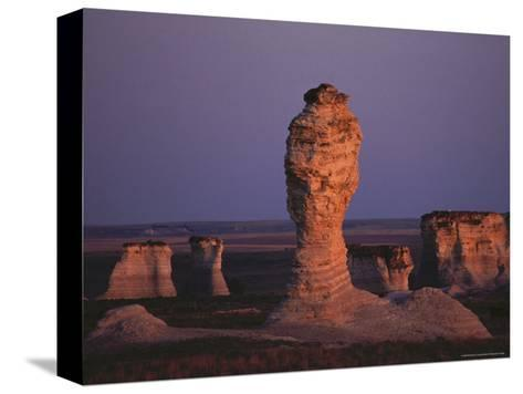 Rock Formation During Sunset, Kansas-Brimberg & Coulson-Stretched Canvas Print