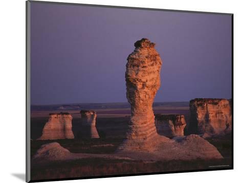Rock Formation During Sunset, Kansas-Brimberg & Coulson-Mounted Photographic Print