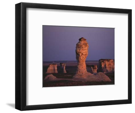Rock Formation During Sunset, Kansas-Brimberg & Coulson-Framed Art Print
