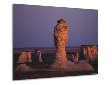 Rock Formation During Sunset, Kansas-Brimberg & Coulson-Metal Print