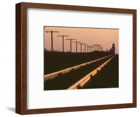 Railway Tracks at Sunset, Kansas-Brimberg & Coulson-Framed Art Print