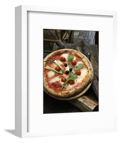 Pizza on Display Outside a Restaurant, Florence, Italy-Brimberg & Coulson-Framed Art Print