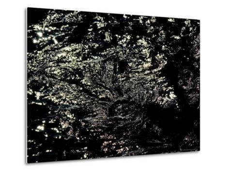 Light Shining on the Black Surface of the Water, Groton, Connecticut-Todd Gipstein-Metal Print