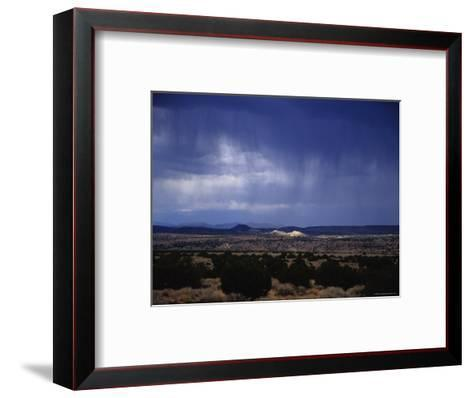 Rain Pores Down on the Desert Landscape in New Mexico-Stacy Gold-Framed Art Print