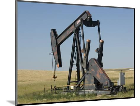 Oil Rig Pumps Oil from the Montana Ground-Joel Sartore-Mounted Photographic Print