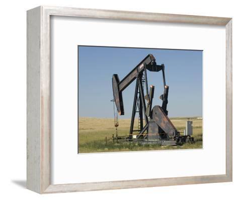 Oil Rig Pumps Oil from the Montana Ground-Joel Sartore-Framed Art Print