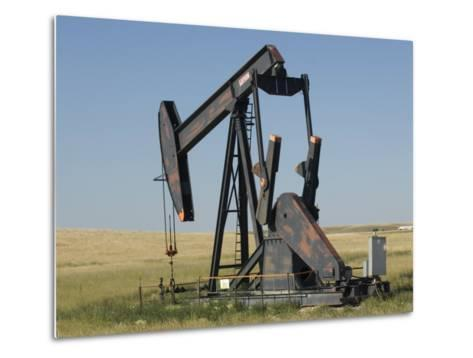 Oil Rig Pumps Oil from the Montana Ground-Joel Sartore-Metal Print