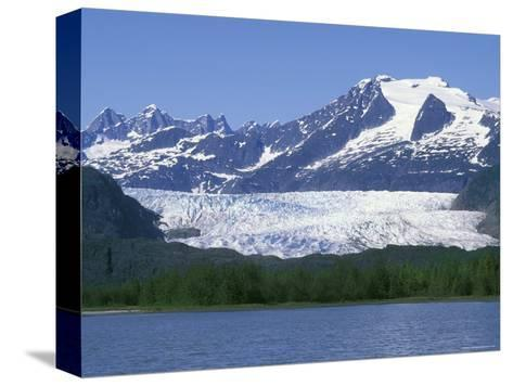 Mendenhall Lake, Mendenhall Towers, Glacier and Mount Wrather, Alaska-Rich Reid-Stretched Canvas Print