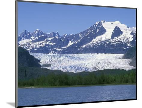 Mendenhall Lake, Mendenhall Towers, Glacier and Mount Wrather, Alaska-Rich Reid-Mounted Photographic Print