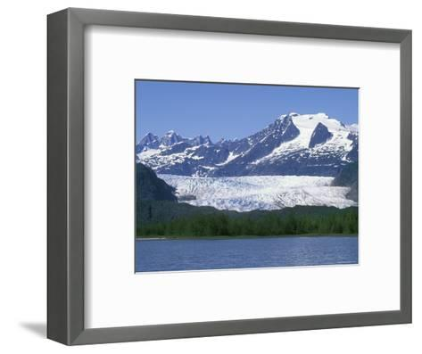 Mendenhall Lake, Mendenhall Towers, Glacier and Mount Wrather, Alaska-Rich Reid-Framed Art Print