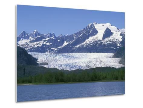 Mendenhall Lake, Mendenhall Towers, Glacier and Mount Wrather, Alaska-Rich Reid-Metal Print