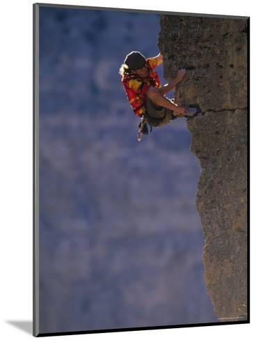 Man Rock Climbing in Wyoming-Bobby Model-Mounted Photographic Print