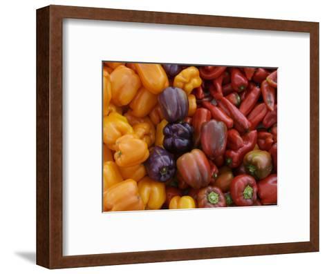 Peppers for Sale at Farmer's Market, Marin, California--Framed Art Print