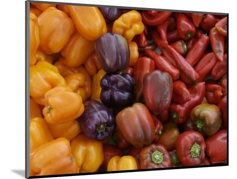 Peppers for Sale at Farmer's Market, Marin, California--Mounted Photographic Print
