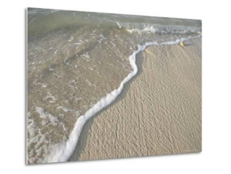 Ocean Water on the Beach, Cabo San Lucas, Mexico-Gina Martin-Metal Print