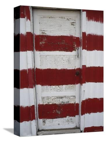 Red and White Painted Door, Arizona-Dawn Kish-Stretched Canvas Print